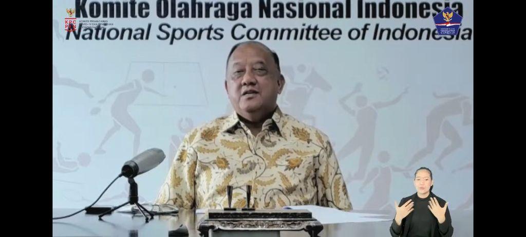 Ketua Komite Olahraga Nasional Indonesia (KONI) Marciano Norman