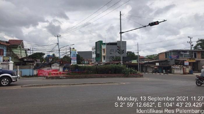 Lokasi ibu-ibu dibegal di Palembang (dok. Polisi)