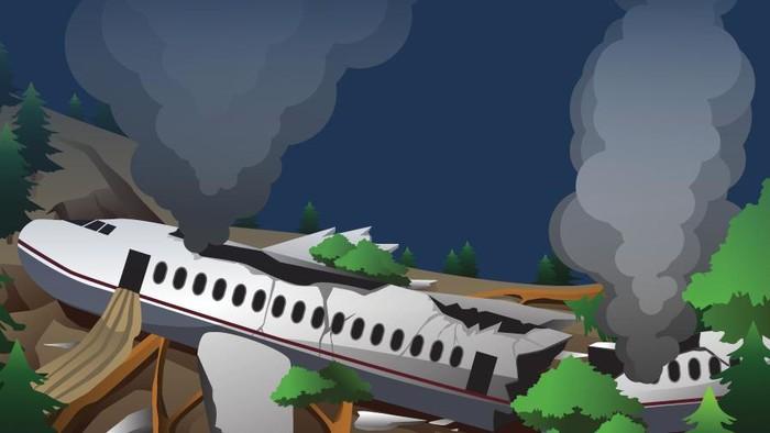 Pesawat Rimbun Air Jatuh