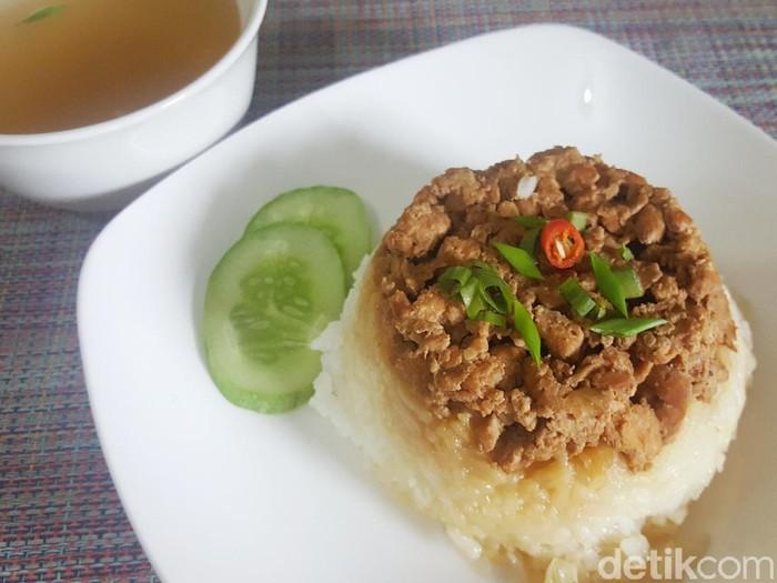 Resep Nasi Tim Ayam Jamur