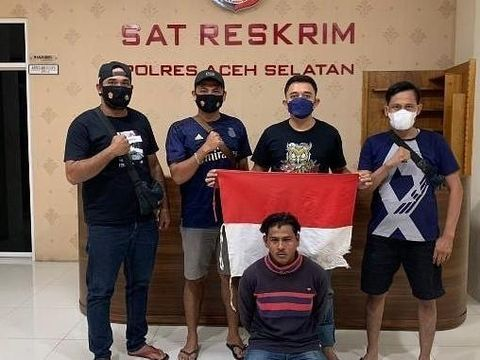 Video pria yang menghina institusi kepolisian dan bendera merah putih viral di medsos. Pelaku telah ditangkap polisi. (dok Istimewa)