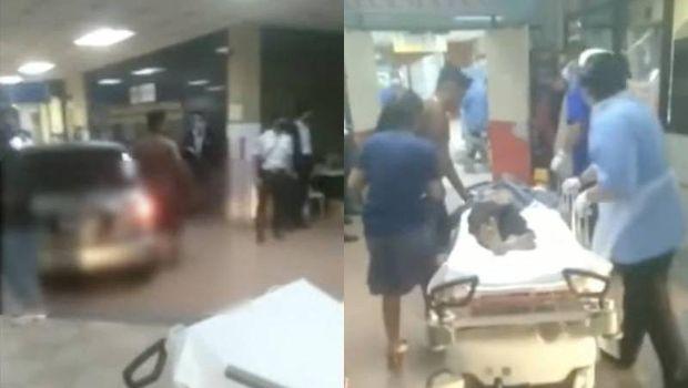 Video viral pria parkir mobil di dalam lobi rumah sakit.