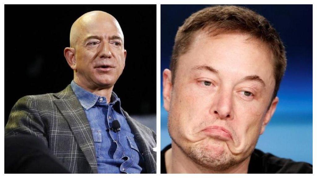 Jeff Bezos Ucapkan Selamat ke Elon Musk dan SpaceX, Sudah Baikan Nih?