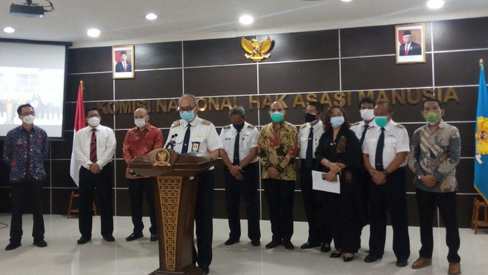 Paguyuban eks pilot Merpati Nusantara mengadu ke Komnas HAM perihal pesangon, Kamis (16/9/2021).