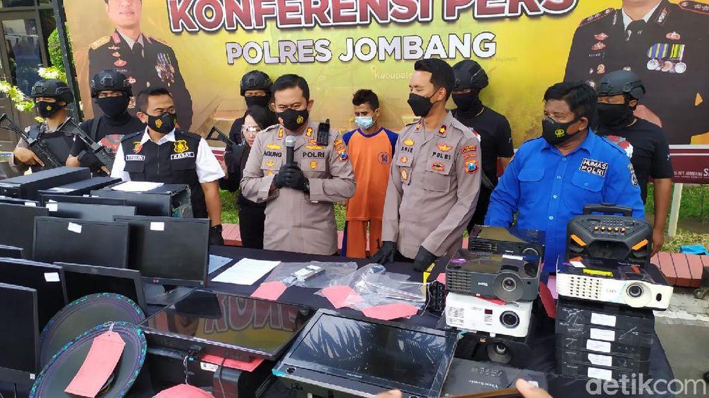 Pembobol 23 Sekolah di Jombang Tertangkap