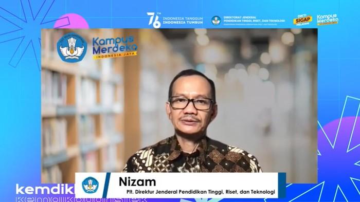 Plt Dirjen Dikti Nizam dalam acara Webinar Fostering Indonesian Universities Partnership with World Top-100 Universities in China, Kamis (16/9/2021).