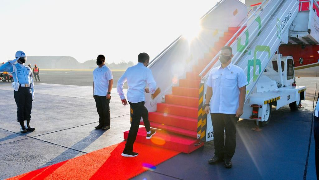 Jokowi Kunker ke Aceh-Sumut, Tinjau Vaksinasi-Beri Arahan Forkopimda