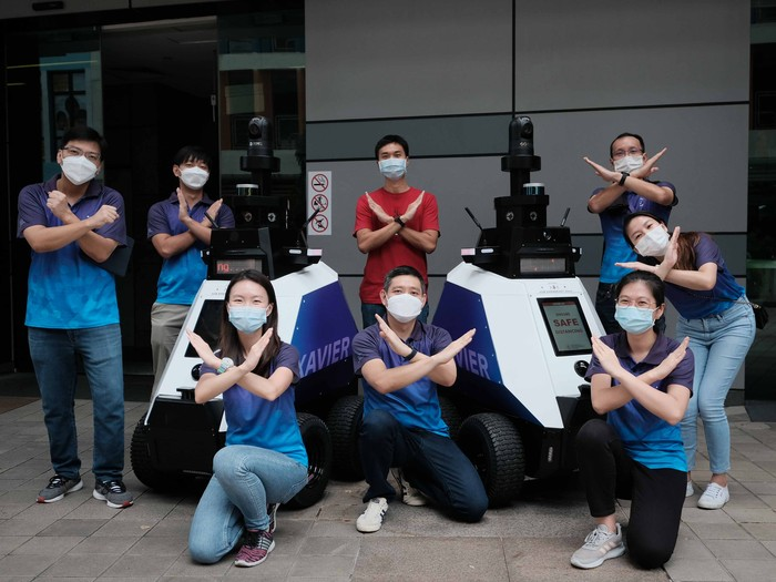 Robot Xavier di Singapura