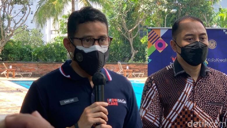 Menparekraf Sandiaga Uno di Surabaya.