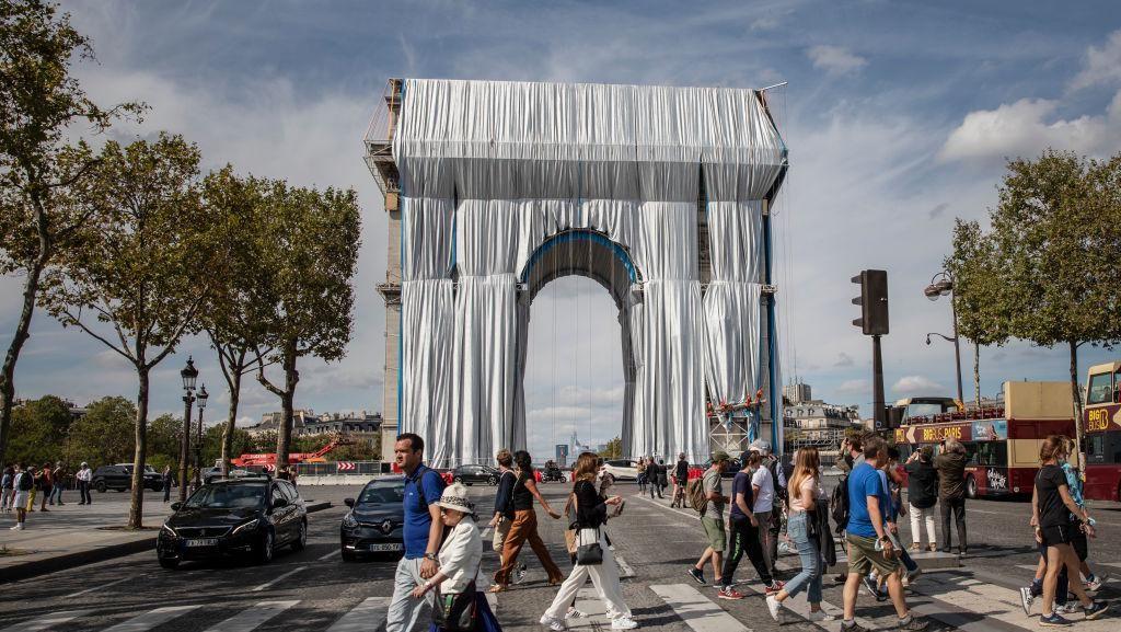 Arc De Triomphe Prancis Berselimut Kain Panjang