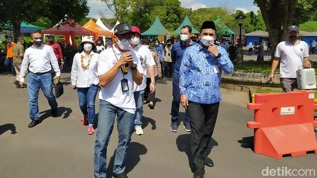 Candi Borobudur Uji Coba Buka