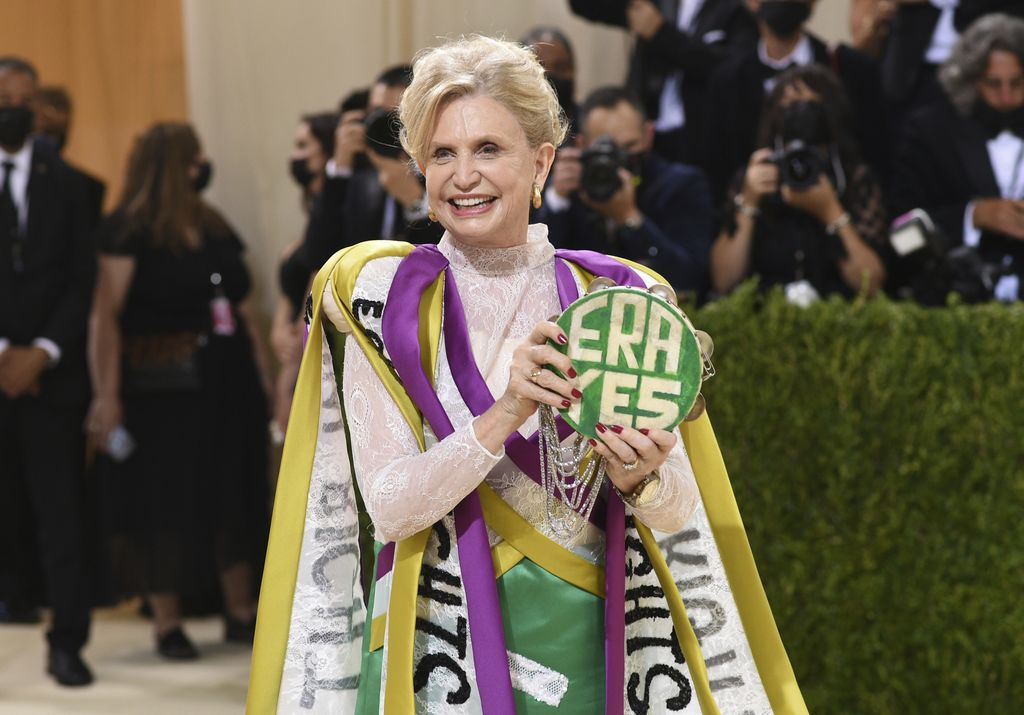 Congresswoman Carolyn B. Maloney attends The Metropolitan Museum of Art's Costume Institute benefit gala celebrating the opening of the
