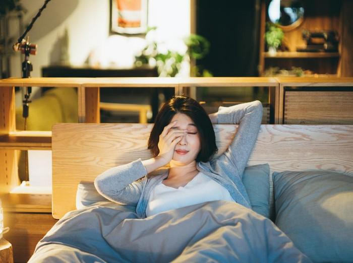 Ilustrasi wanita sulit tidur