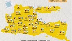 Didominasi Zona Kuning, Ini Sebaran Kasus Aktif COVID-19 di Jatim