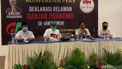 Relawan JoMan Jatim Deklarasikan Dukung Ganjar The Next Jokowi