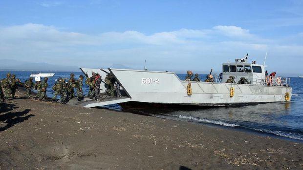 marinir usai latihan Satuan Lanjutan II Aspek Laut Triwulan III Tahun 2021