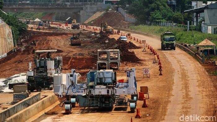 Proyek Tol Cinere - Serpong terus dikerjakan. Jalan tol ini nantinya akan terkoneksi dengan Tol Jagorawi.