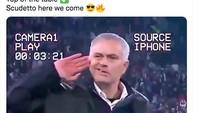 AS Roma Mengerikan, Mourinho Disanjung Netizen