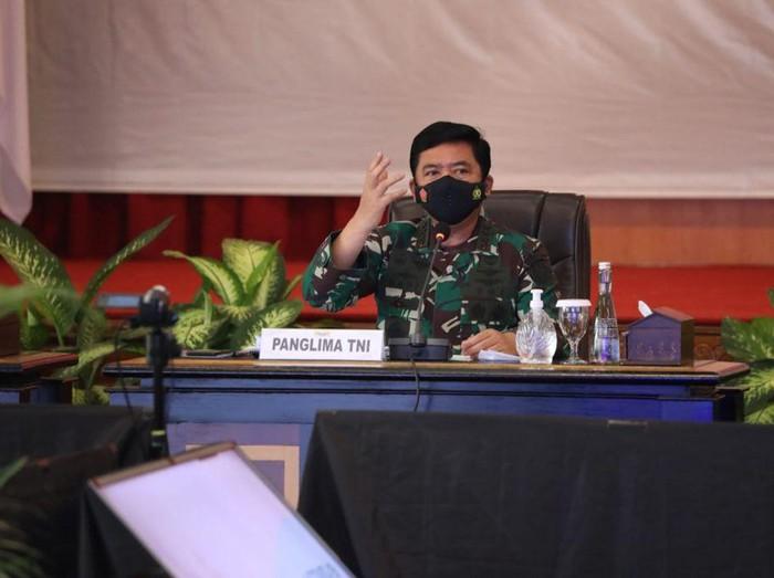 Panglima TNI Marsekal Hadi Tjahjanto pimpin rapat Forkopimda Jambi