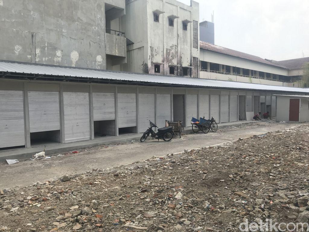 Pasar Kambing atau Pasar Lontar Tanah Abang, Jakpus. Pembangunan belum kelar juga. 17 September 2021. (Faiz Iqbal Maulid/detikcom)