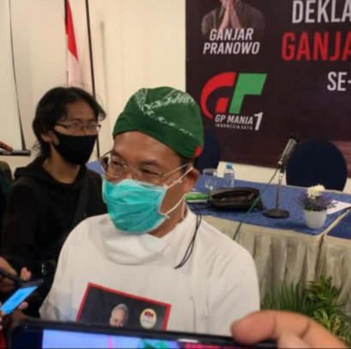 Perwakilan DPD Jokowi Mania (JoMan) sekaligus koordinator GP Mania Jatim, Warto Adi