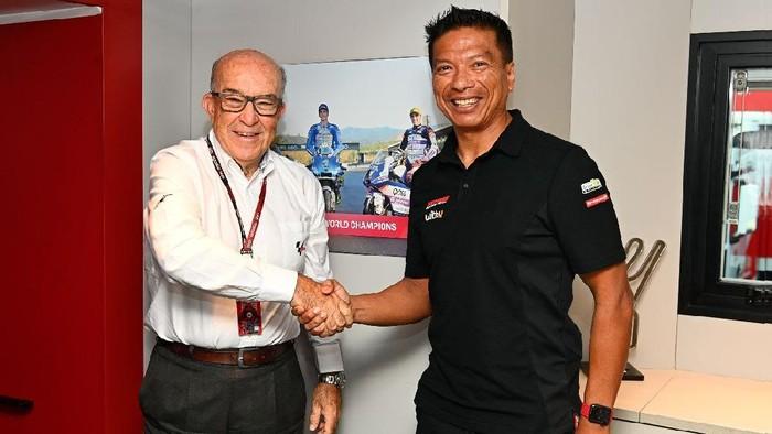 Sepang Racing Team merilis entitas baru mereka untuk MotoGP 2022, Jumat 17 September 2021. Tim asal Malaysia itu berubah dari Petronas Yamaha SRT menjadi RNF MotoGP Racing.