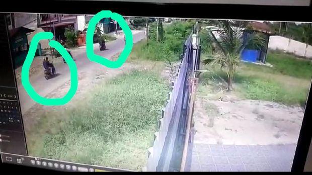 Rekaman CCTV memperlihatkan arah kabur para perampok toko emas di Medan