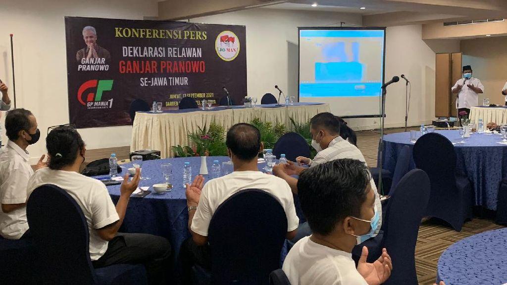 Gabungan Relawan Jokowi di Jatim Deklarasi Dukung Ganjar Pranowo Presiden