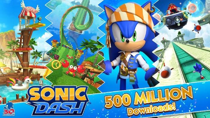 Game Mobile Sonic Dash Mencapai 500 juta Unduhan, Berapa Pendapatannya?