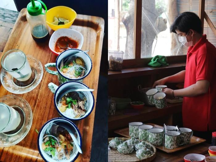 Unik! Warung di Solo Ini Tawarkan Sensasi Makan Soto Pakai Cangkir