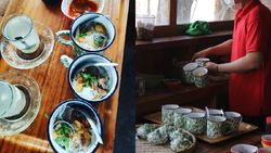 Unik! Warung di Solo Ini Tawarkan Sensasi Makan Soto Pakai Cangkir Blirik