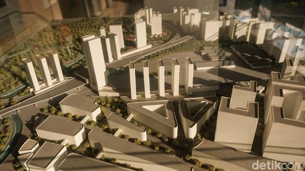 Kini Stasiun Manggarai direncanakan sebagai stasiun sentral menggantikan Gambir. Begini tampak dari kejauhan lokasi pembangunan.