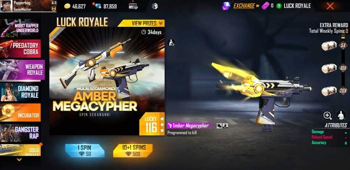 Weapon Royale Free Fire Terbaru Sudah Rilis Lho, Yuk Cek Gun Skin Terbaru