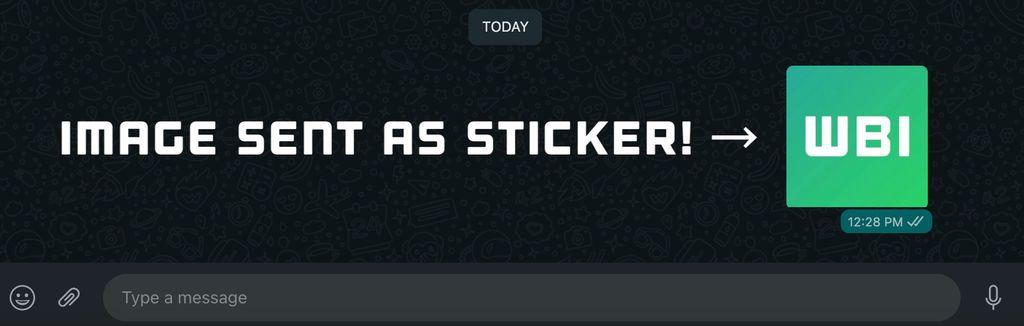 Fitur kirim foto jadi stiker yang dibuat WhatsApp
