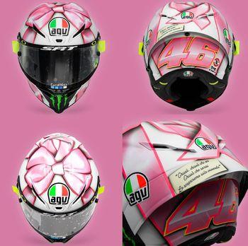 Helm spesial Valentino Rossi di MotoGP San Marino 2021