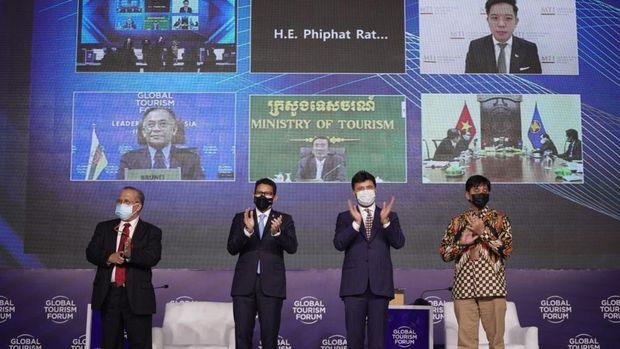Sandiaga Uno di event Global Tourism Forum.