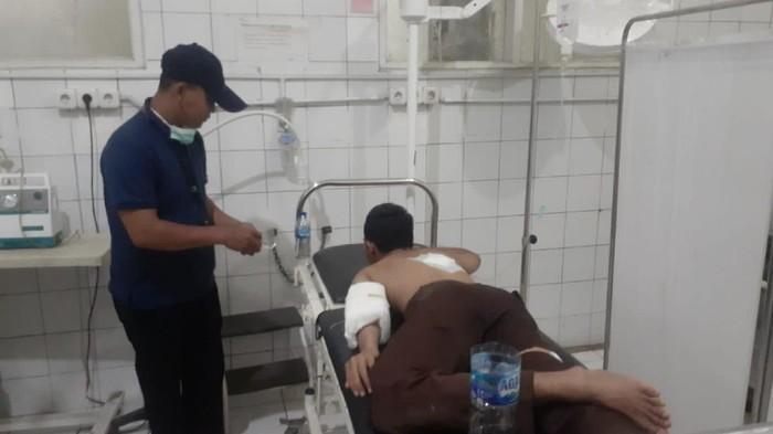 Tawuran, pelajar di sukabumi luka dibacok (18/9/2021)