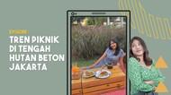 Tren Piknik di Antara Hutan Beton Jakarta Jadi Viral