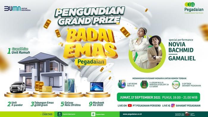 Total Hadiah Undian Badai Emas Pegadaian Rp 3 M, Siapa Pemenangnya?