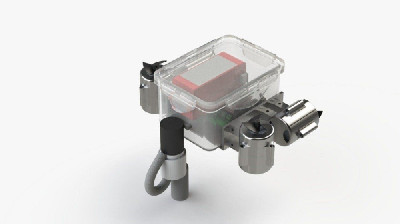 Desain 3D robot Sea Wasp mahasiswa ITS.