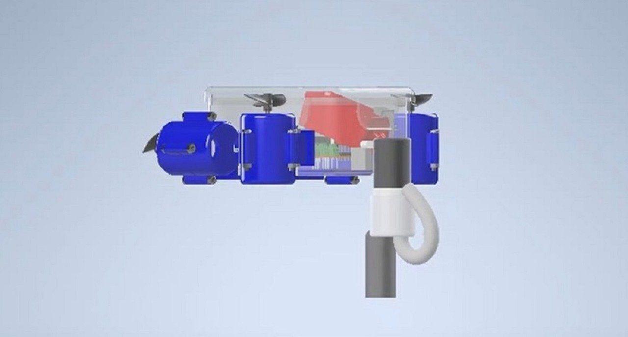 Desain robot Glaucus Atlanticus karya mahasiswa ITS.