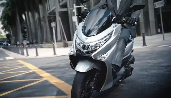 Haojue UHR 150 yang diprediksi akan menjadi Suzuki Burgman 150