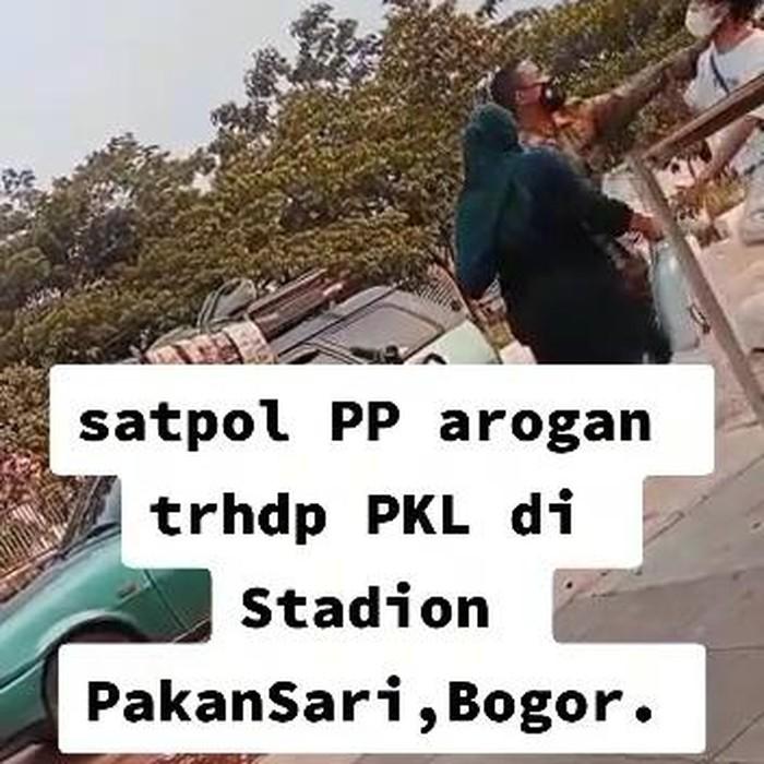 Heboh video anggota Satpol PP cekik warga saat penertiban PKL di Bogor