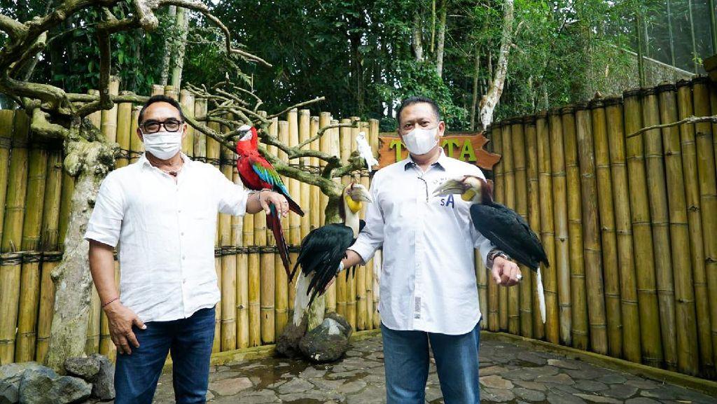 Bamsoet Dukung Konservasi Flora Fauna di Tasta Tabanan Wildlife Park