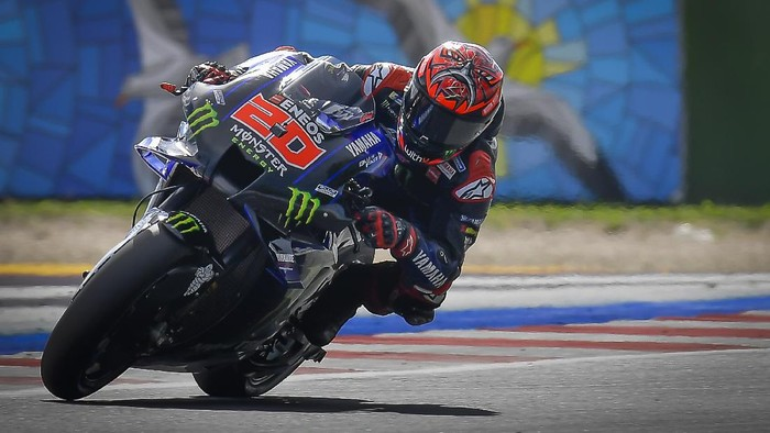 Fabio Quartararo di Kualifikasi MotoGP San Marino 2021.