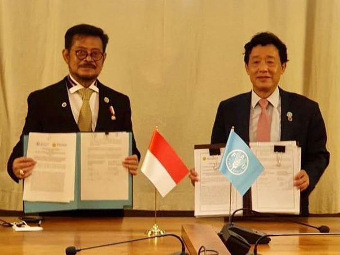 Kementan teken MoU dengan FAO