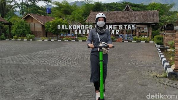 Skuter ini mulai beroperasi pada akhir Agustus 2021. Sekalipun termasuk baru, penyewa skuter ini bukan hanya warga Magelang saja, melainkan sudah datang dari Temanggung, Jogja maupun Jakarta. (Eko Susanto/detikTravel)