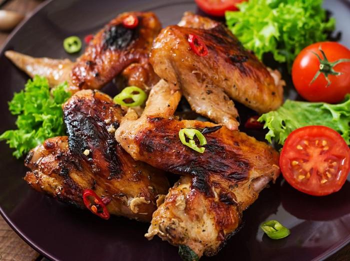 Resep Sayap Ayam Panggang Bumbu Kecap Pedas