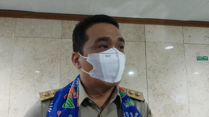 Wakil Gubernur DKI Jakarta Ahmad Riza Patria, di Balai Kota DKI, Jl Medan Merdeka Selatan, Jakarta Pusat, Senin (20/9/2021).
