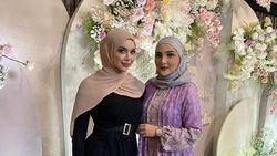 Gaya Millen Cyrus Pakai Hijab di Pengajian 4 Bulanan Aurel, Bikin Salfok